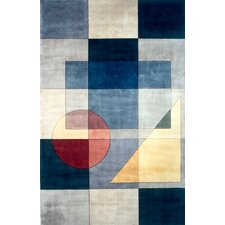 New Wave IV Blue Area Rug