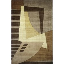 New Wave Light Brown Area Rug