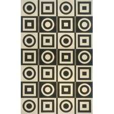Elements Black/White Rug