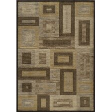 Dream Brown Geometric Area Rug