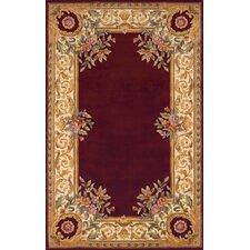 Harmony Burgundy Floral Rug