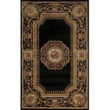 Harmony Black Floral Rug
