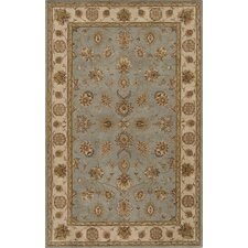 Imperial Court Seafoam/Brown Area Rug
