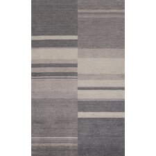Gramercy Charcoal/White Stripe Area Rug