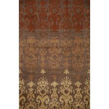 Habitat Brown Ikat Area Rug