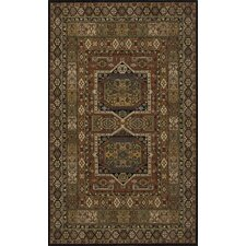Persian Garden Black Area Rug