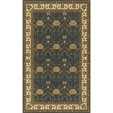 Persian Garden Teal Blue/Brown Area Rug