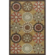 Summit Gold Bold Floral Rug