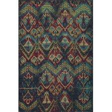 Vintage Blue Ikat Rug