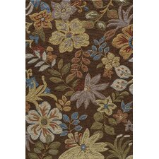Summit Brown Bold Floral Rug