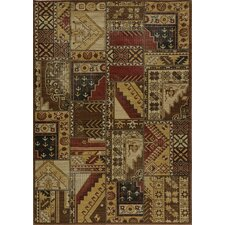 <strong>Momeni</strong> Vintage Gold Tribal Patchwork Rug