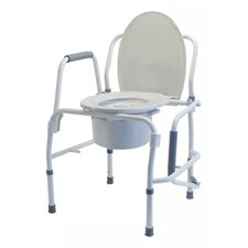 Steel Drop Arm Three-In-One Commode