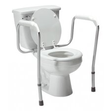 Adjustable Height Toilet Safety Frame