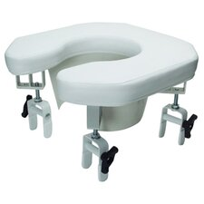Multi-Position Open Padded Raised Toilet Seat