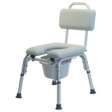 Platinum Collection Padded Commode Bath Seat with Optional Arms
