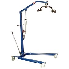 Blue Powder-Coated Hydraulic Lift with Optional Sling
