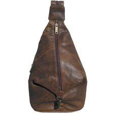 Distressed Leather Pebble Calf Travel Sling