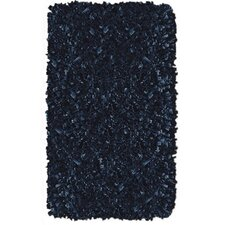 Shaggy Raggy Dark Blue Rug