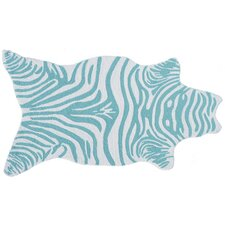 Mini Zebra Teal Novelty Rug