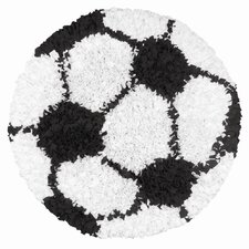 Shaggy Raggy Soccer Ball Kids Rug