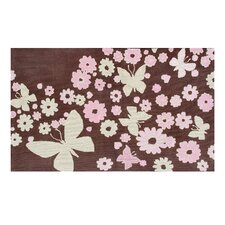 Sparkle Flies Brown Kids Rug
