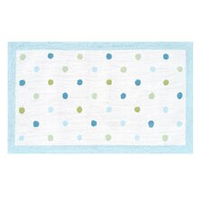 Polka Dots Blue Kids Rug