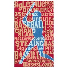 Batter Up! Kids Rug