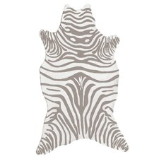 Resort Grey Zebra Shaped Outdoor Rug