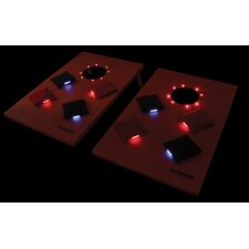 Lighted Solid Wood Bag Toss Tournament Game Set