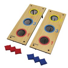 <strong>Triumph Sports USA</strong> 2 in 1 3 Hole Bag Toss and 3 Hole Washer Toss Game Set