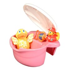 The Potty Patty Tub Toy Organizer in Pink