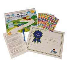 Potty Scotty Potty Training Chart and Reward Sticker Set