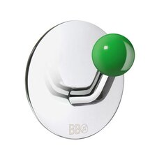 <strong>Smedbo</strong> Beslagsboden Single Hook with Green Knob in Polished Stainless Steel