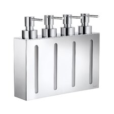 Outline Four Containers Soap and Lotion Dispenser in Polished Chrome