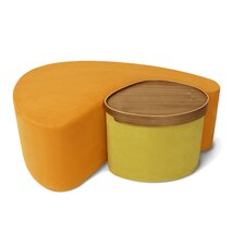 Tea Pod Chair and Ottoman Set