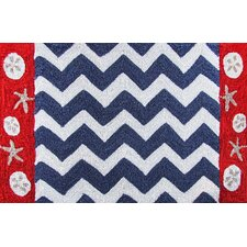 Nautical Chevron Rug