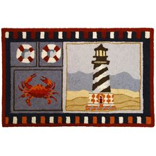 Lighthouse and Crab Rug