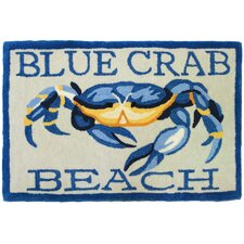 Blue Crab Beach Rug