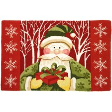 Accents Seasonal Santa Forest Novelty Rug