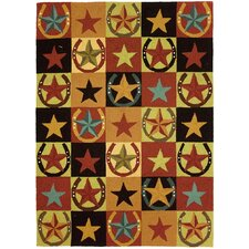 Western Stars and Horseshoes Rug