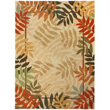 Homefires Orange Painted Rain Forest Indoor/Outdoor Area Rug