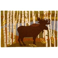 Birch and Moose Rug