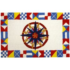 Nautical Compass Rug