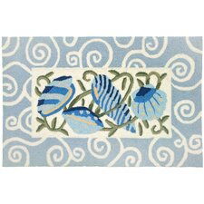 Sea Blue Shells Rug