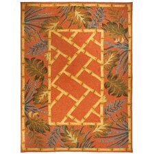 Cynthia MacCollum Tropical Palms and Bamboo Novelty Rug