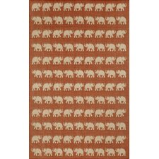 Elliot Terra Elephants Indoor/Outdoor Rug