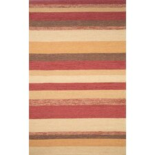 Ravella Red Stripe Outdoor Rug