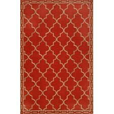 <strong>Trans-Ocean Rug</strong> Ravella Floor Tile Red Indoor / Outdoor Rug