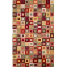 Amalfi Autumn Square in Square Rug