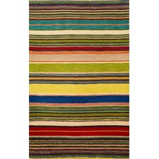 Inca Red/Multi Stripes Rug